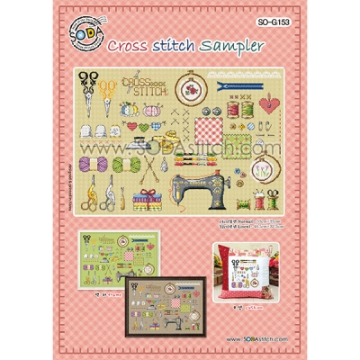 Cross stitch Sampler -[소다특대-G153]